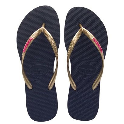 Havaianas Slim Logo Pop-Up. Would prefer another color on the sole but the strap is great in gold.
