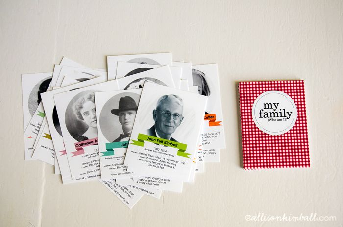 Akimball (free download) family history matching game templates