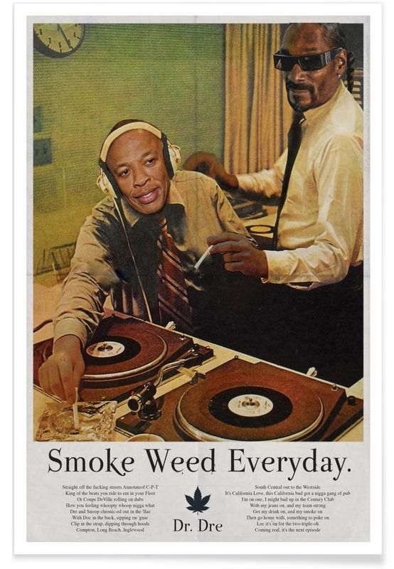 Smoke Weed Every Day as Premium Poster by Ads Libitum   JUNIQE