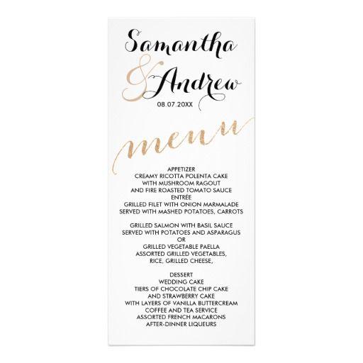 197 besten wedding dinner menu Bilder auf Pinterest