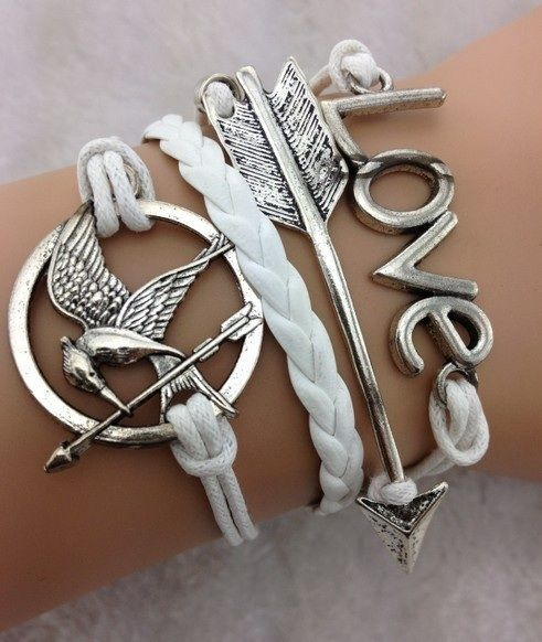 Hunger Games themed bracelet. The nerd in me wants this REALLY badly....