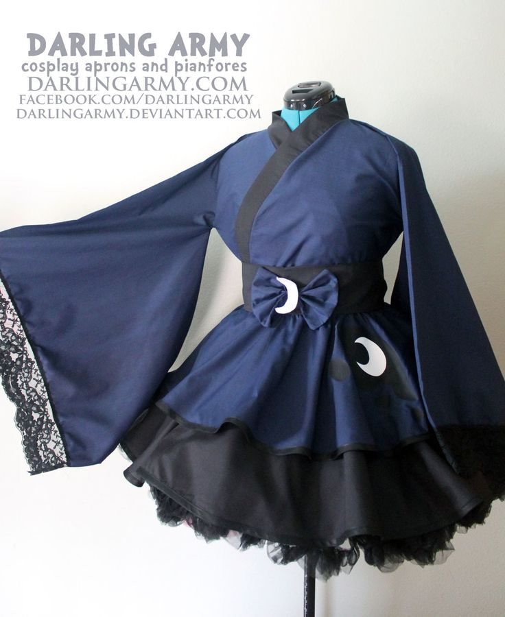 Princess Luna - MLP - Cosplay Kimono Dress by DarlingArmy.deviantart.com on @deviantART My Little Pony Nightmare Night Luna Eclipsed anime con