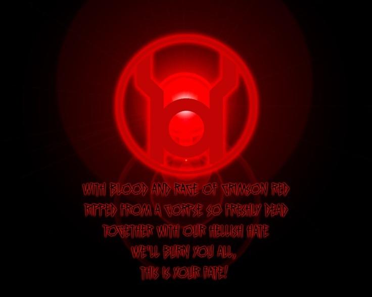 Red Lantern Oath | Lantern Entities | Pinterest | Lanterns ... Red Lantern Ring Oath