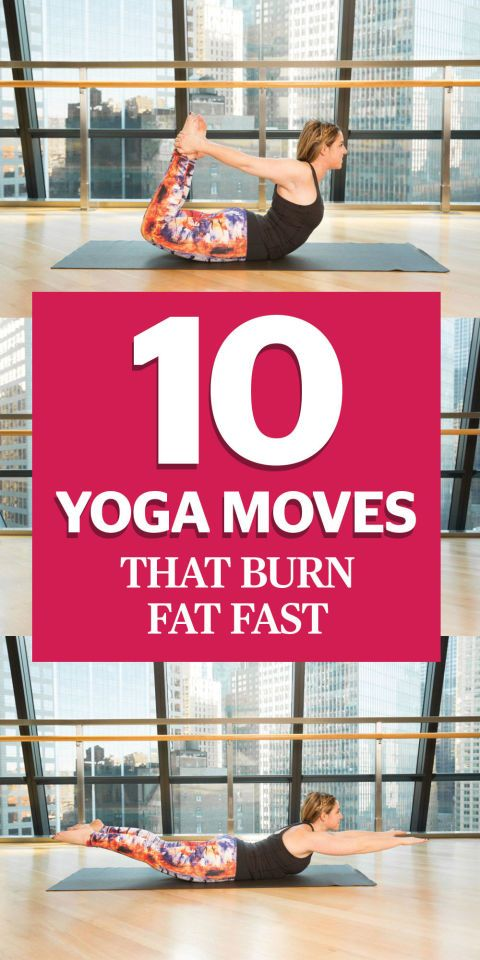 """10 Yoga Moves That Burn Fat Faster Than You Can Say """"Om"""" Whoever said you couldn't use yoga to lose weight never tried these moves..."""