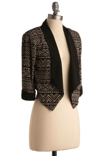 patterned blazer ($42)