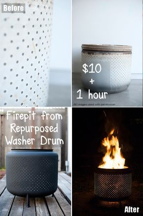 Have you ever thought you could reuse the drum in your old washer for something cool & practical? Well, you can & this is a brilliant, easy project.