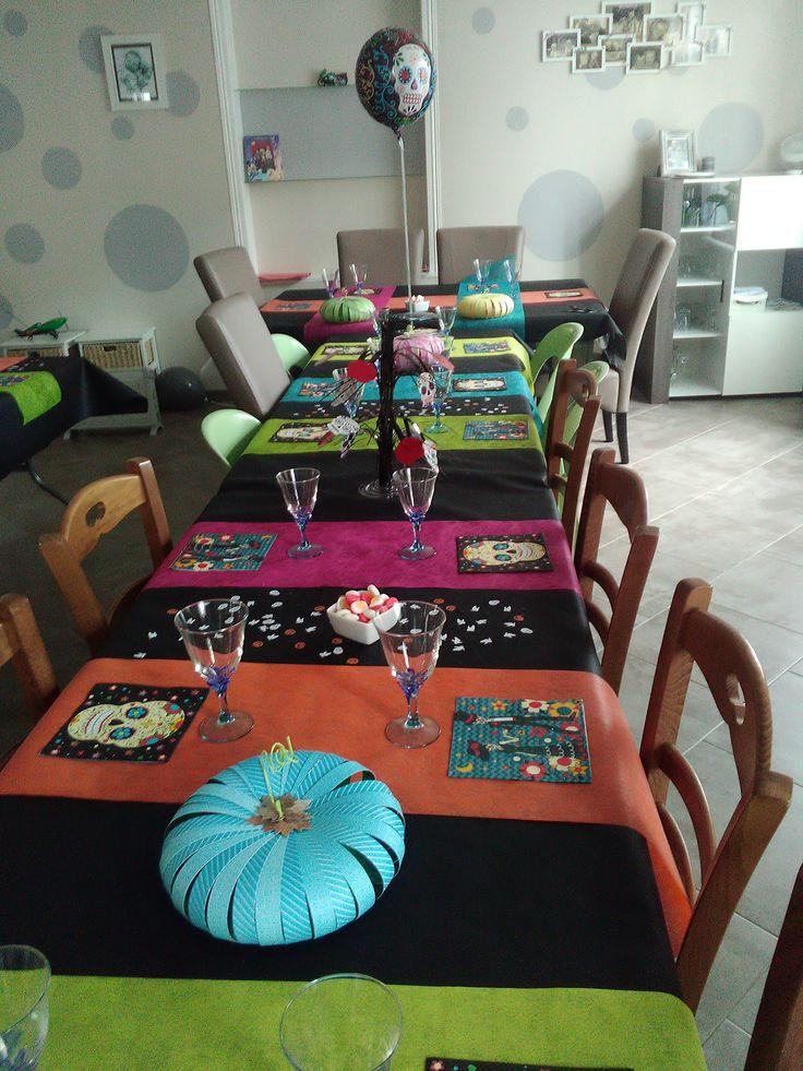 déco table anniversaire version halloween
