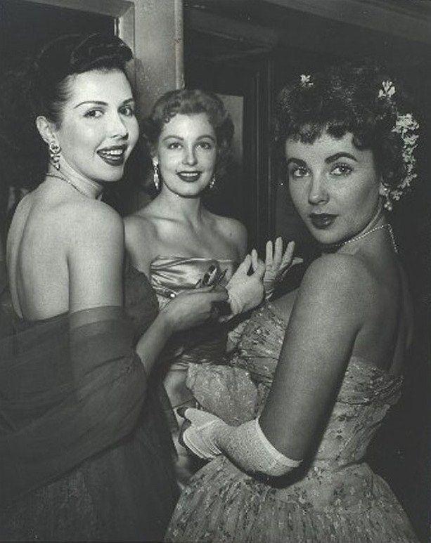 Ann Miller, Arlene Dahl and Elizabeth Taylor