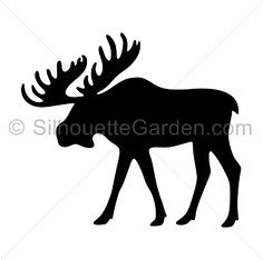 Moose silhouette clip art. Download free versions of the image in EPS, JPG, PDF, PNG, and SVG formats at http://silhouettegarden.com/download/moose-silhouette/