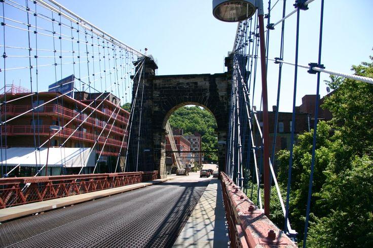 Market Street Wheeling WV   Suspension Bridge #4 - (Jerry Burrough)