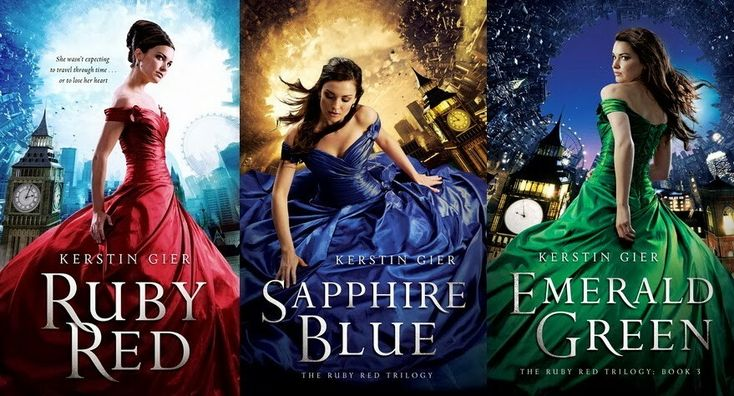 The Ruby Red Trilogy by Kerstin Gier! Great books..really worth reading! And gourgeous characters! One of my fav. book series ever!