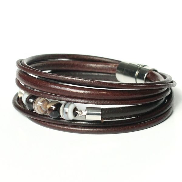 bracelet cuir multi lien
