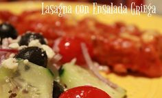 Receta de Ensalada Griega Original, para acompañar un plato de Lasagna de Carne Molida con Salsa Roja, fácil y lista en pocos minutos. #BalanceYourPlate #ad