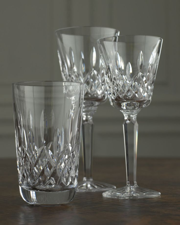 Best 25 crystal glassware ideas on pinterest waterford crystal waterford wine glasses and - Waterford colored wine glasses ...