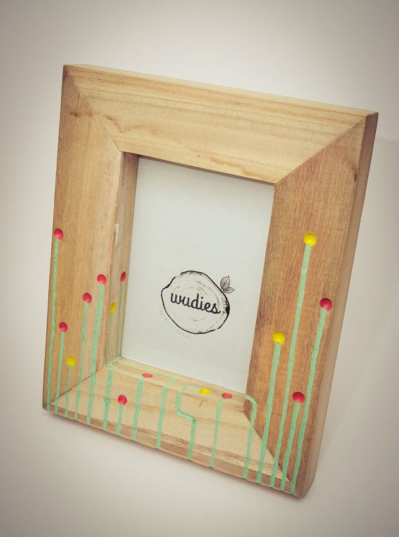 Candy field picture frame by Wudies on Etsy