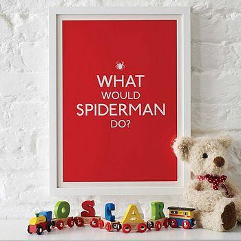 Nice print for the kid´s room: Idea, Kids Rooms Decor, Posters Prints, Kids Stuff, Boys Bedrooms, Comic Books, Boys Rooms, Art Prints, Spiders Man