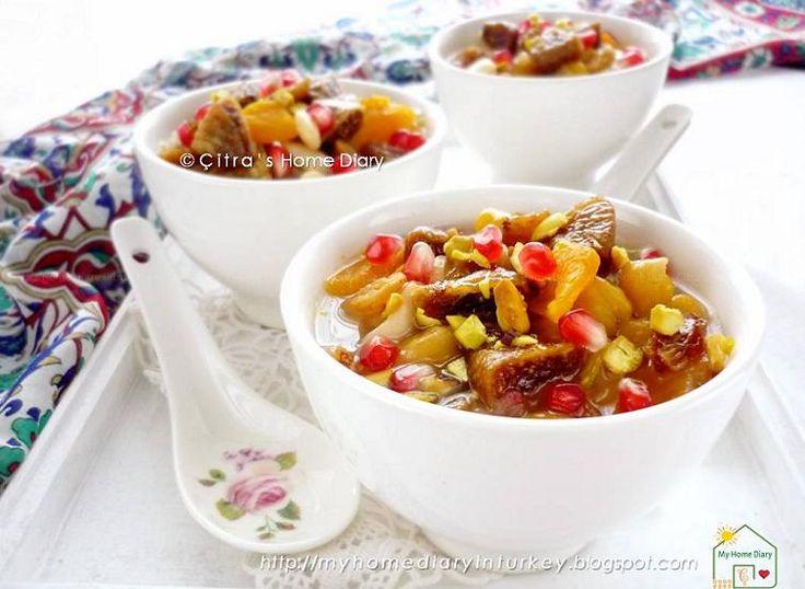 #Aşure/ Ashure / Turkish mix fruits, grains and nut dessert recipe