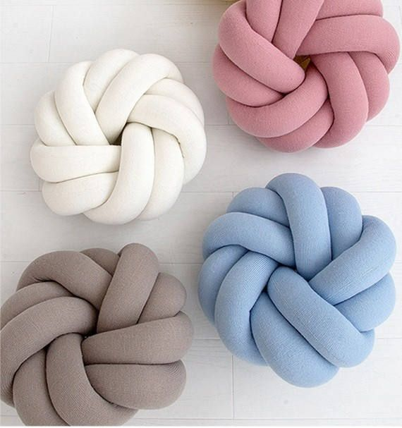Modern pillow, LARGE Knot pillow, Knot cushion, Decorative pillow, Trendy pillow Knot Floor Cushions Minimalist Scandinavian decor Baby room