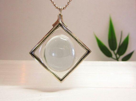 Zilveren hanger met glas, uncium van Karen Klein edelsmid