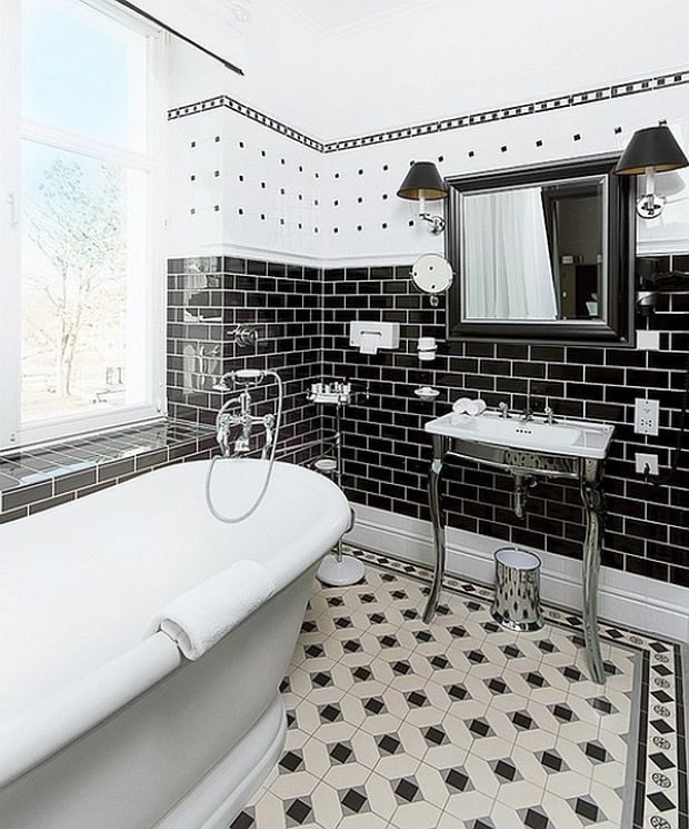 Siyah Beyaz Banyo Modelleri