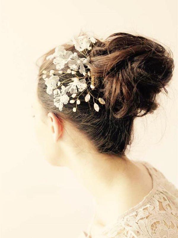 lace floral hair comb