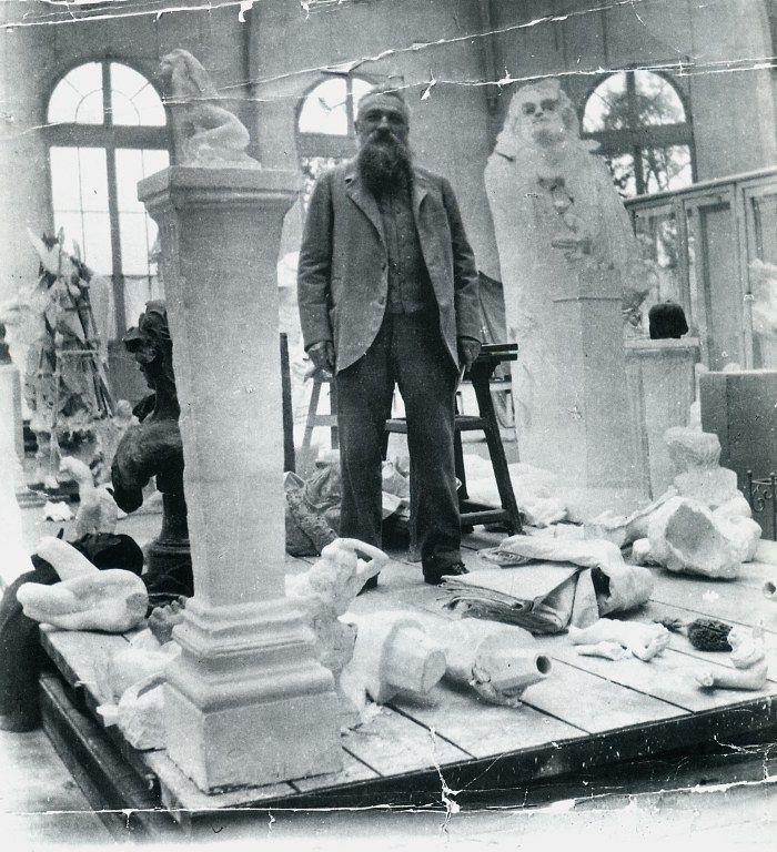 Auguste Rodin, en su atelier 1905