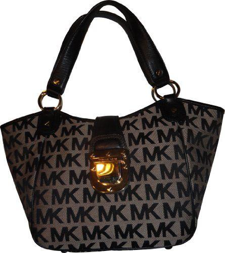 Women's Michael Kors Purse Handbag Medium Tote RTW JQD Charlton Beige/Black/Black  $268.00