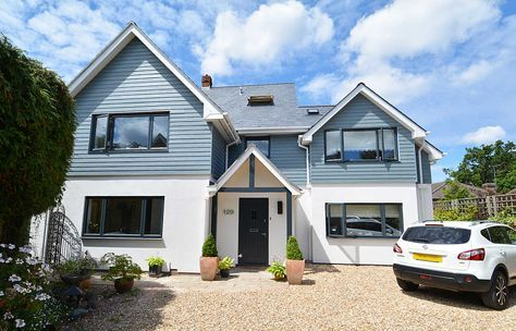 Front of House - The house was refurbished using K-Rend silicone render and James Hardie - HardiePlank, a composite weatherboard, so it retains it colour/look over time.