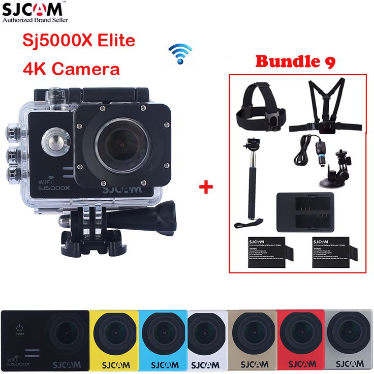 "Original SJCAM Sj5000 Series SJ5000X Elite 2.0"" WiFi NTK96660 Mini 30M Waterproof Sports Action Camera Sj Cam DVR+Accessories"