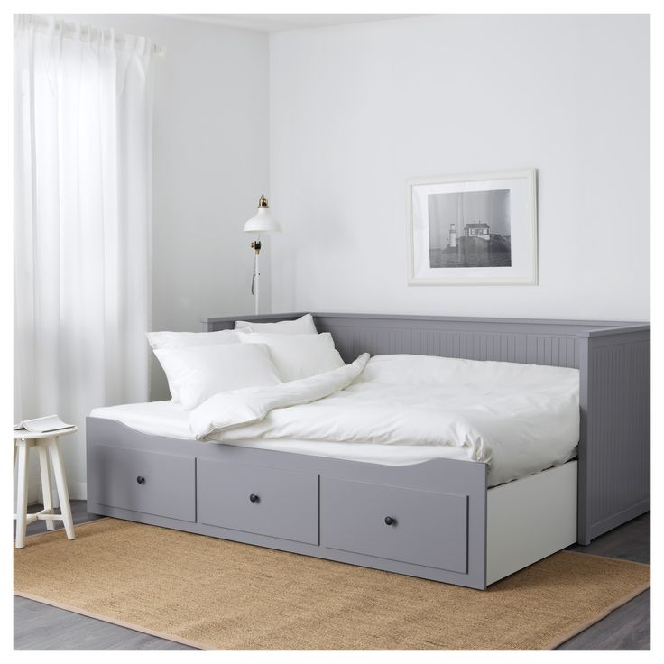 Hemnes Day Bed Frame With 3 Drawers Grey Ikea In 2019