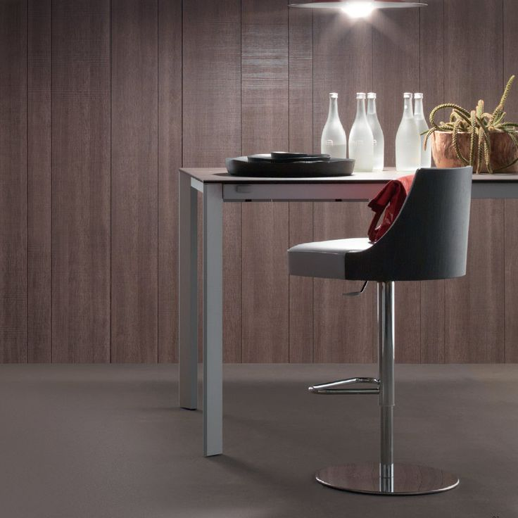 Elegance Snack This stool is an amazingly elegant piece and it works both in a kitchen or living room and in an office or coffee shop. It is also very comfortable and the base is strong, resistant and reliable.