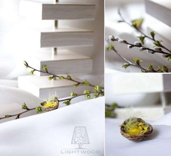 Inspiracje Wielkanocne - Lampa drewniana LIGHTWOOD LW02 biała