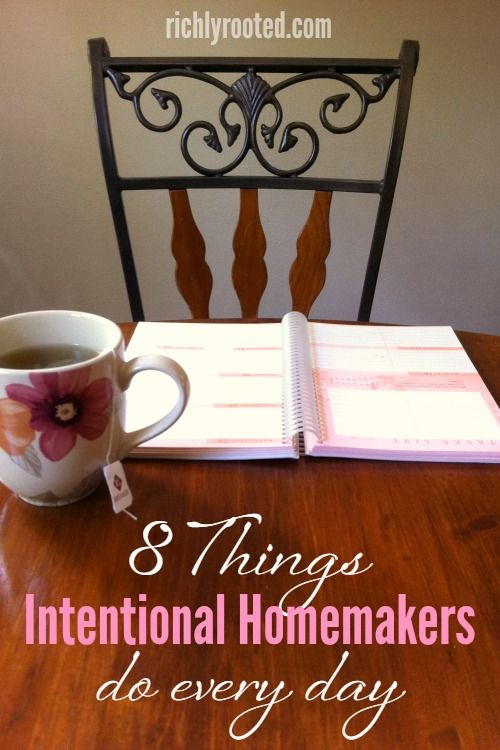 Successful homemakers practice these habits every day!