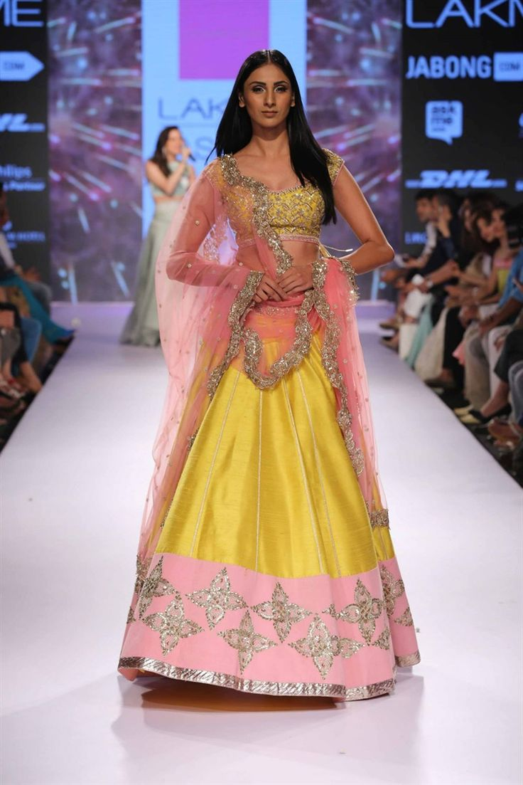 springtime indian lengha outfit   Anushree Reddy's Royal Collection at Lakme Fashion Week 2015
