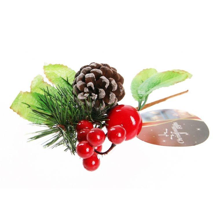 Kerststeker dennenappel type 3  Deze kerststukje stekertjes met dennenappels zijn gemaakt van kunststof en natuurlijk materiaal. Afmeting: ca. 13 x 4 x 10 cm.  EUR 1.99  Meer informatie