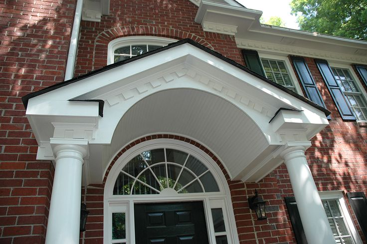 17 best images about gable roof porch portico ideas on for Georgia front porch