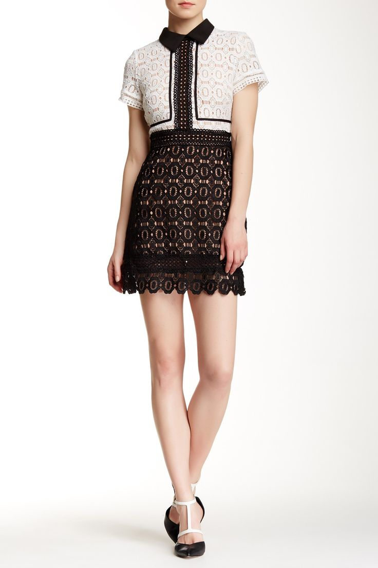 Perforated Knit Fit & Flare Dress by Few Moda on @nordstrom_rack