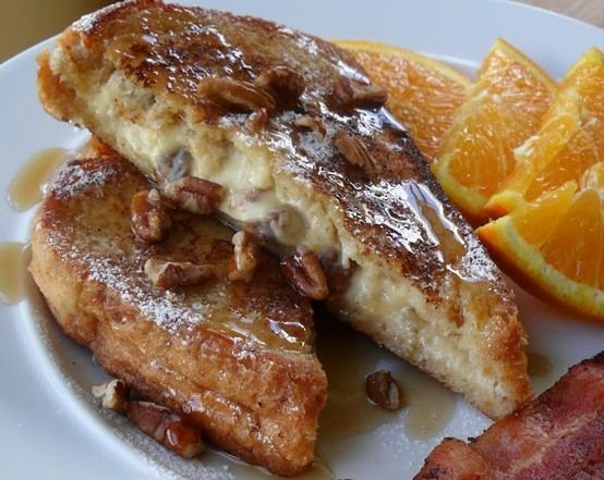 Pecan & Orange Stuffed French Toast