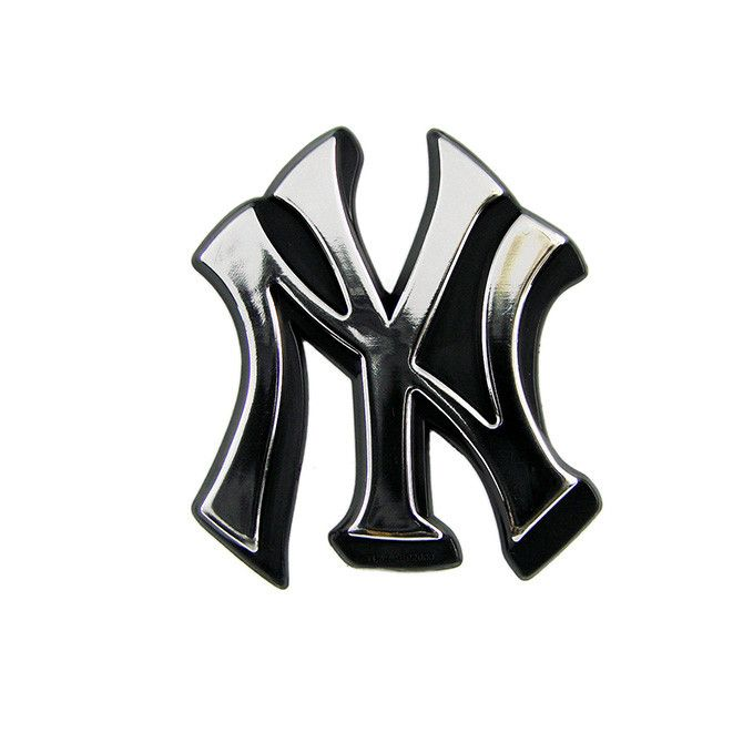 New York Yankees Logo 3D Chrome Auto Decal Sticker NEW Truck Or Car