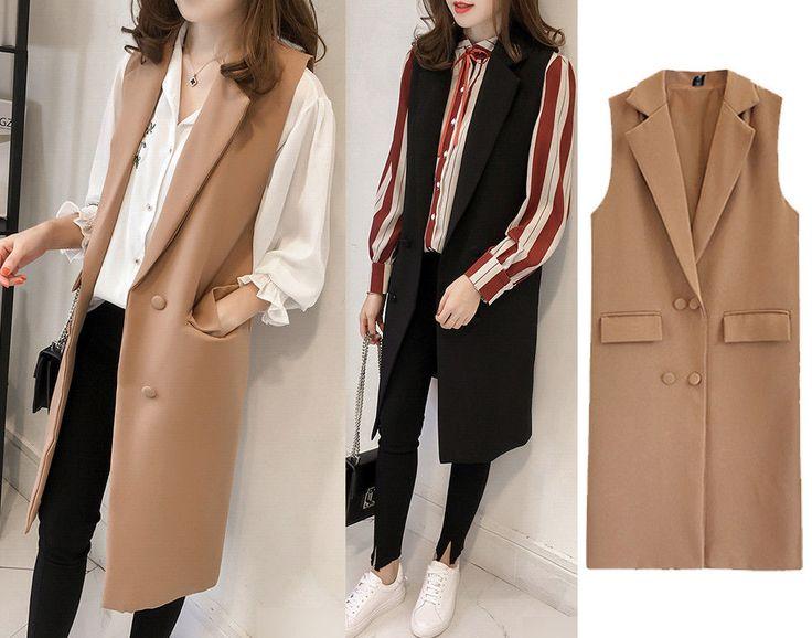 Women Casual Sleeveless Long Duster Coat Jacket Cardigan Suit Vest Waistcoat New #Unbranded #Vest #Casual