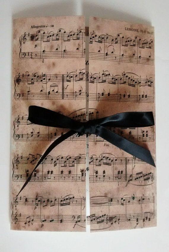 Invito a nozze musica invito Claudia di Luxurisse su Etsy