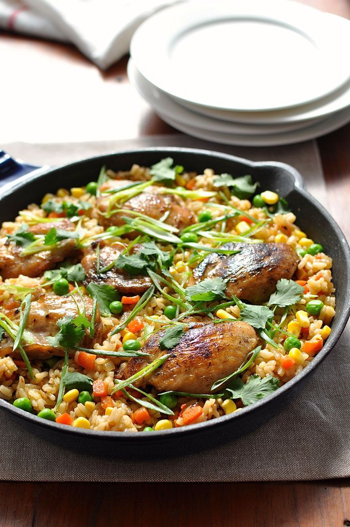 """One Pot Chinese Chicken """"Fried Rice"""" 