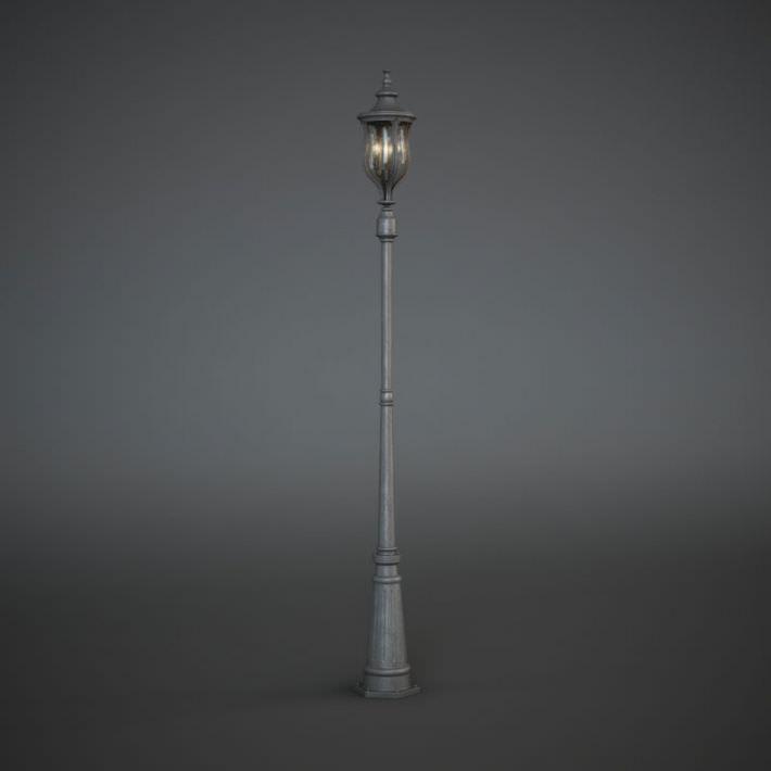 Antique Street Lamp Post 3d Model Street Lamp Post Lamp Post Lamp