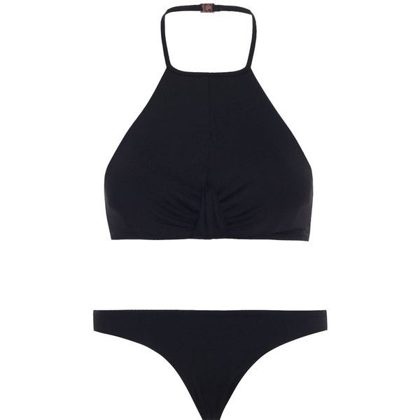 Zimmermann Essence Twist Halter Bikini featuring polyvore women's fashion clothing swimwear bikinis bikini swimsuits bathing suits swim halter swimsuit swimming costume halter neck bikini swim bikini swim wear