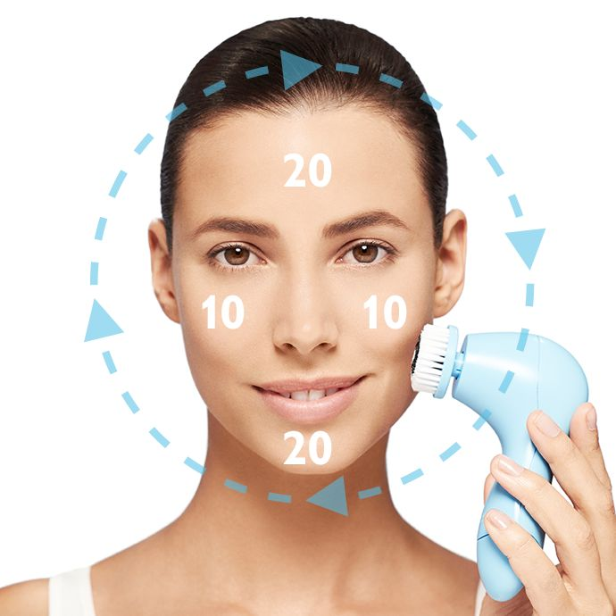 MODO DE EMPLEO: 1. Humedece el cabezal del cepillo con agua. 2. Aplica una pequeña cantidad de tu limpiadora Oriflame habitual en el centro del cabezal. 3. Limpia moviendo el cepillo sobre frente, mejillas, barbilla y nariz durante un minuto. Evita el contacto con el contorno del ojo. 4. Aclarar abundantemente con agua.