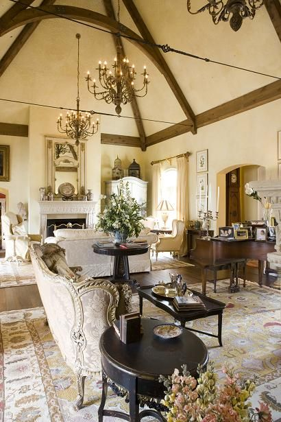 Luxury Homes Interior Designs Warm Color With Three Chandelier And Classy  Furniture , Grandeur Luxury Homes Interior Designs In Home Design And Decor  ...