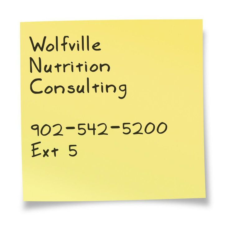Call Wolfville Nutrition Consulting today to book your appointment!