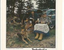 1979 Erdővidék csizma Reklám Túrázás Munka Téli Bőr 70-es férfi divat cipő Stílus Cipő Wall Art Decor