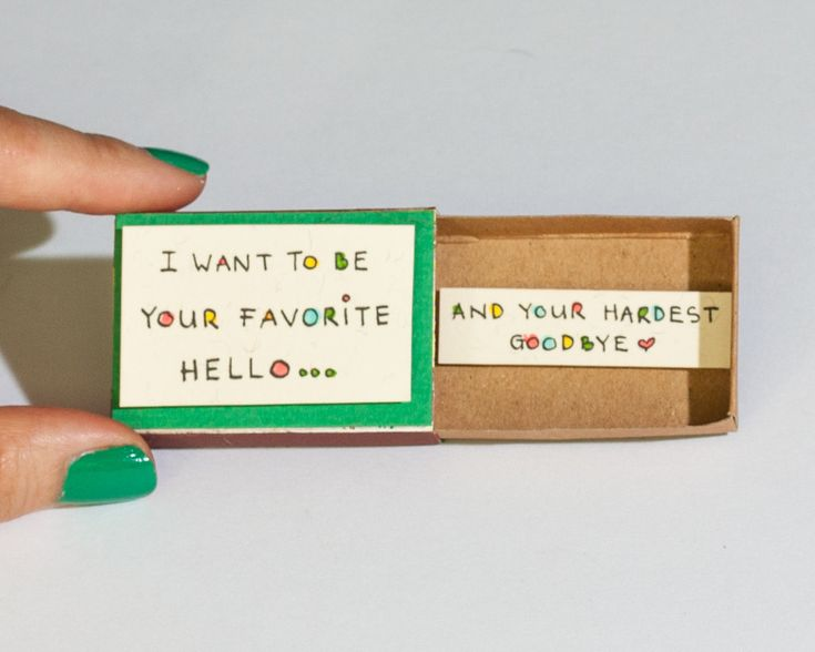 Cute Romantic Love Card Matchbox Gift box / Message box/ I want to be your favorite by shop3xu on Etsy https://www.etsy.com/listing/247334460/cute-romantic-love-card-matchbox-gift