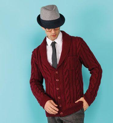 Modèle gilet vintage homme
